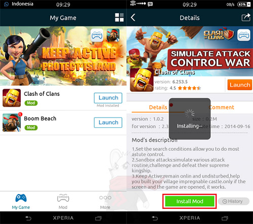 clash of clan terbaru XmodGames