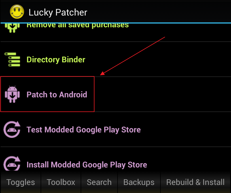 Patch to android